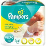 PAMPERS COUCHES NEW BABY MICRO 1-2,5 KG x 24 à Mérignac