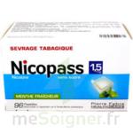 NICOPASS 1,5 mg SANS SUCRE MENTHE FRAICHEUR, pastille édulcorée à l'aspartam et à l'acésulfame potassique à Mérignac