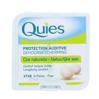 QUIES PROTECTION AUDITIVE CIRE NATURELLE 8 PAIRES à Mérignac