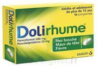 DOLIRHUME PARACETAMOL ET PSEUDOEPHEDRINE 500 mg/30 mg, comprimé à Mérignac
