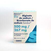 ALGINATE DE SODIUM/BICARBONATE DE SODIUM SANDOZ 500 mg/267 mg, suspension buvable en sachet à Mérignac